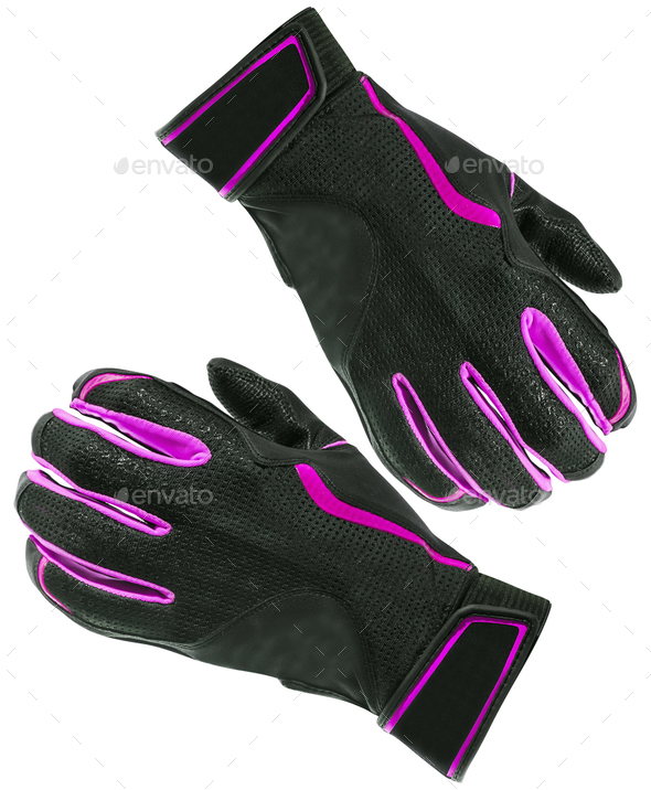 Purple gloves isolated - Stock Photo - Images