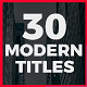 30 Modern Titles - VideoHive Item for Sale