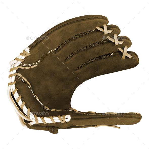 Baseball glove isolated - Stock Photo - Images