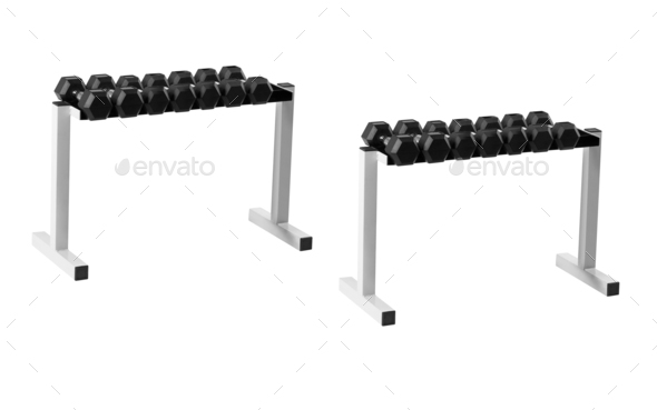 Dumbells stand - Stock Photo - Images