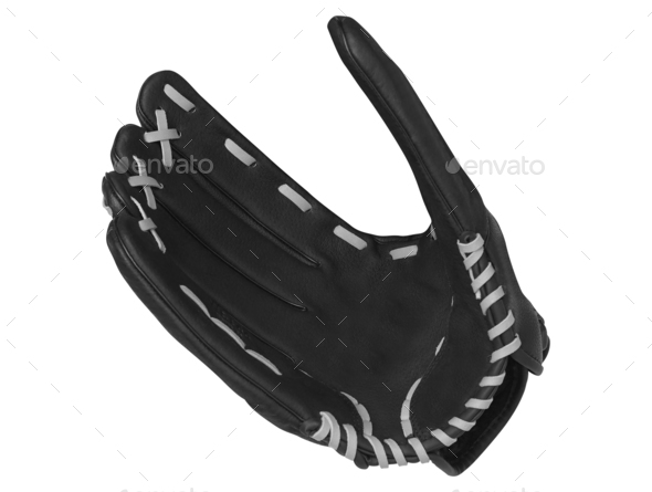 Baseball Glove Isolated On White - Stock Photo - Images