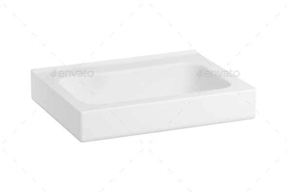 Washbasin isolated on white background - Stock Photo - Images