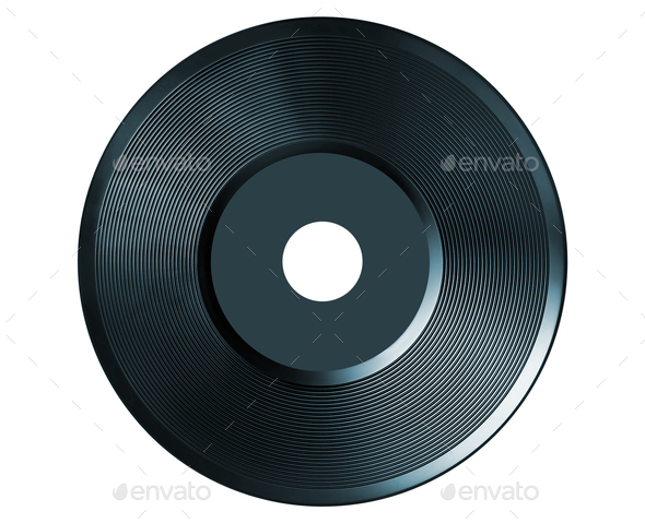 retro vinyl audio record isolated - Stock Photo - Images