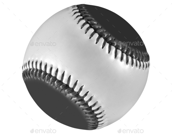 baseball ball isolated on white - Stock Photo - Images