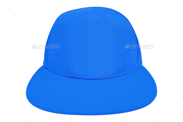 blue cap isolated on white - Stock Photo - Images