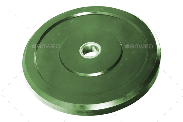 metal disk for dumbbells isolated - Stock Photo - Images