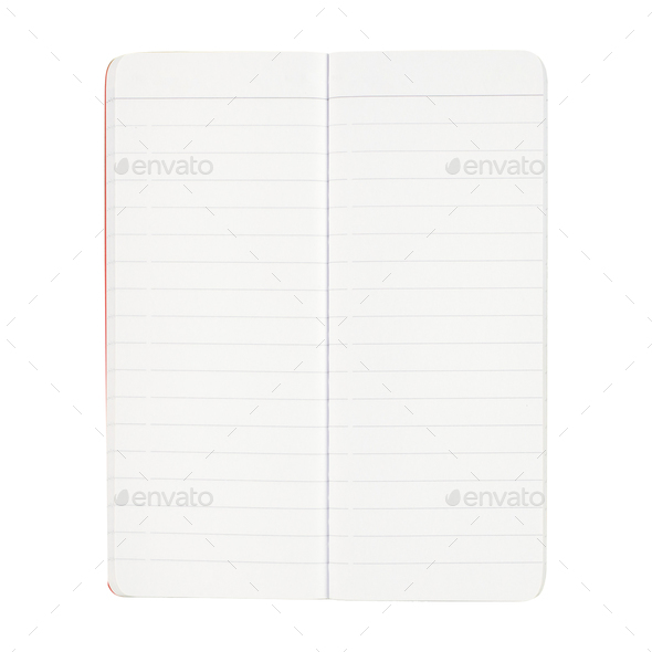 Blank notepad isolated on white - Stock Photo - Images