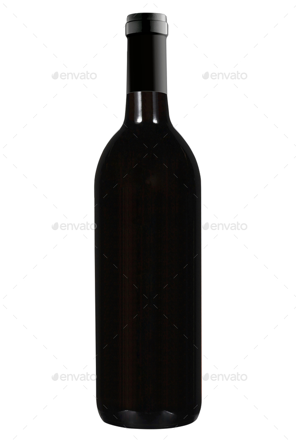 Wine bottle isolated on white - Stock Photo - Images