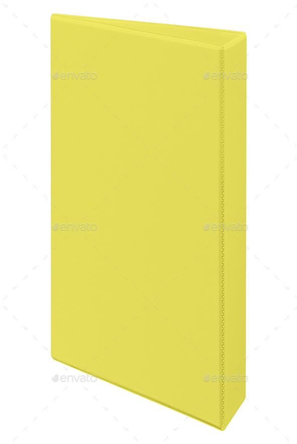 yellow folder isolated - Stock Photo - Images