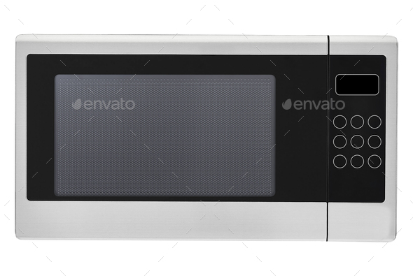 Microwave oven isolated on white - Stock Photo - Images