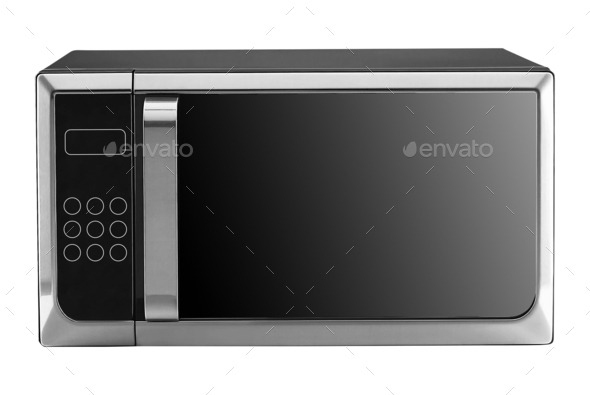 microwave isolated on white background - Stock Photo - Images
