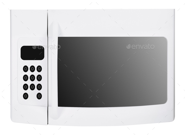 microwave oven isolated - Stock Photo - Images