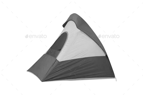 Tent isolated on white background - Stock Photo - Images