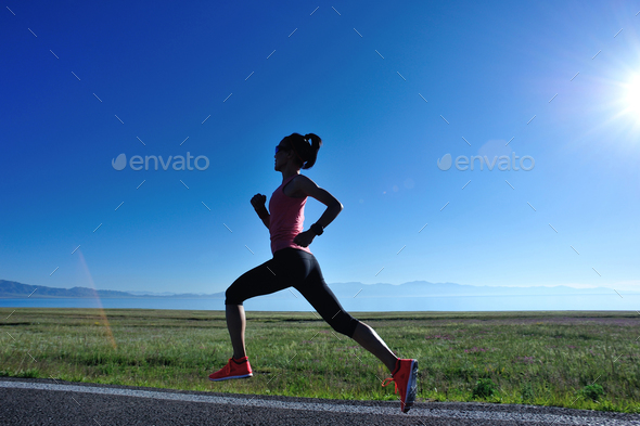 Running on trail - Stock Photo - Images