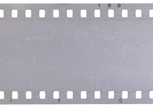 Strip of old celluloid film with dust and scratches - Stock Photo - Images