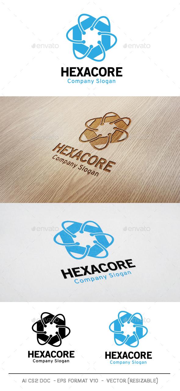 Hexagon Core Technology Logo - Abstract Logo Templates