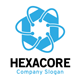 Hexagon Core Technology Logo - GraphicRiver Item for Sale