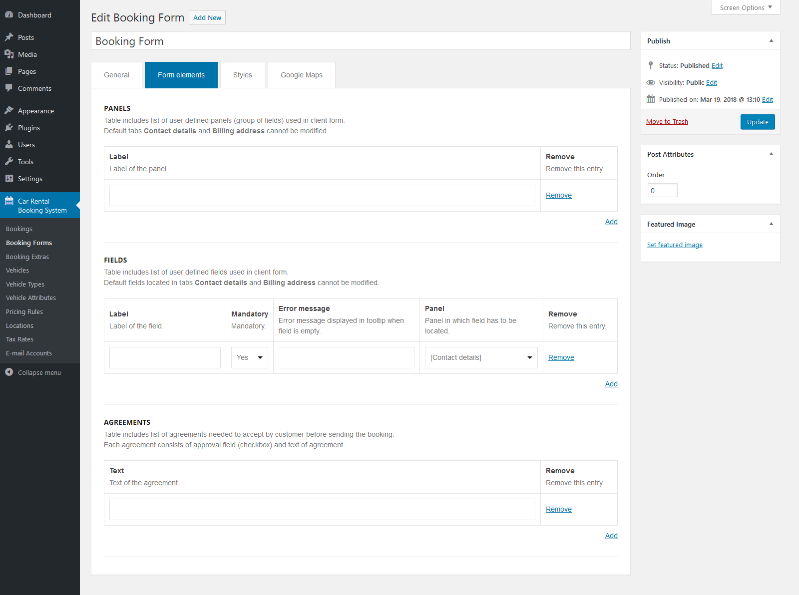 Car Rental Booking System For WordPress By QuanticaLabs CodeCanyon - Table booking system