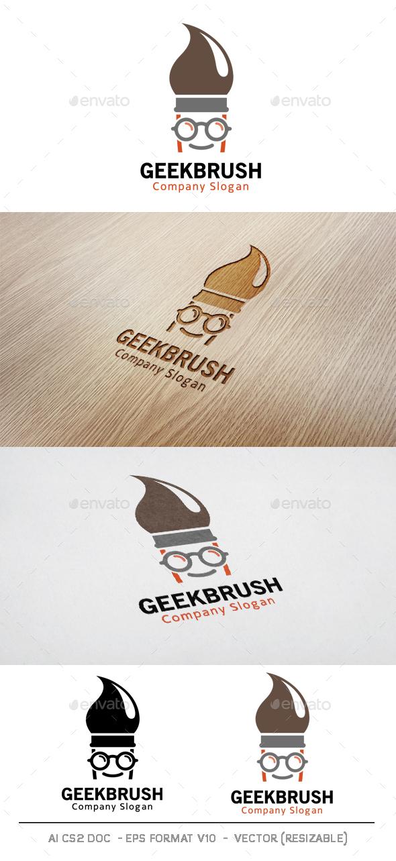 Geek Brush Logo - Symbols Logo Templates
