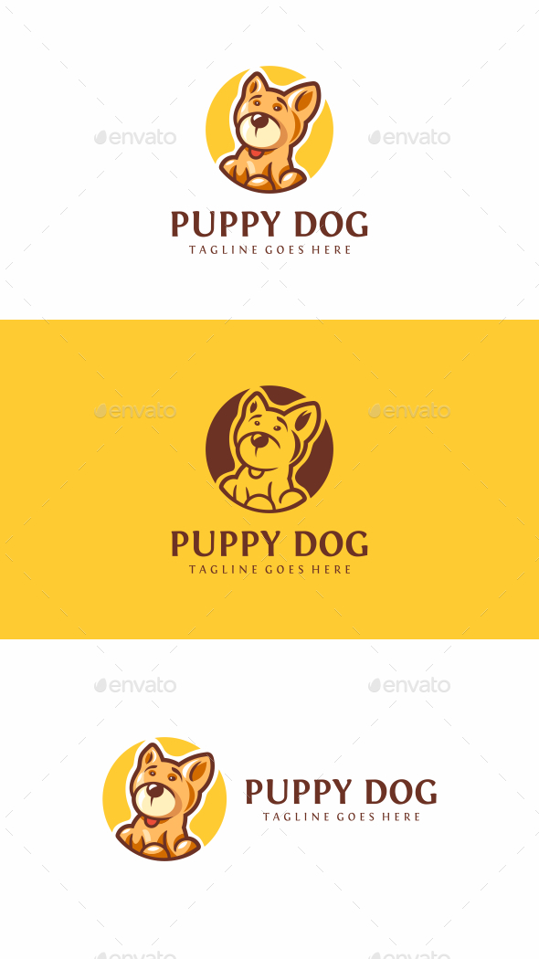 Puppy Dog - Animals Logo Templates