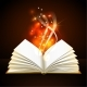 Open Book with Mystic Bright Light - GraphicRiver Item for Sale