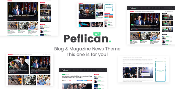 Image of Peflican - A Newspaper and Magazine WordPress Theme