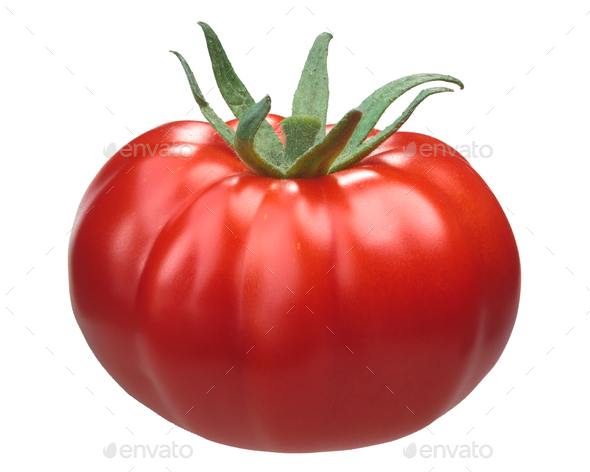 Pantano romanesco heirloom tomato - Stock Photo - Images