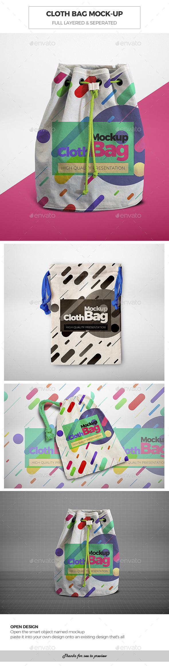 Cloth Bag Mock-Ups - Miscellaneous Print