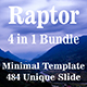 Raptor Bundle 4 in 1 Minimal PowerPoint Template - GraphicRiver Item for Sale