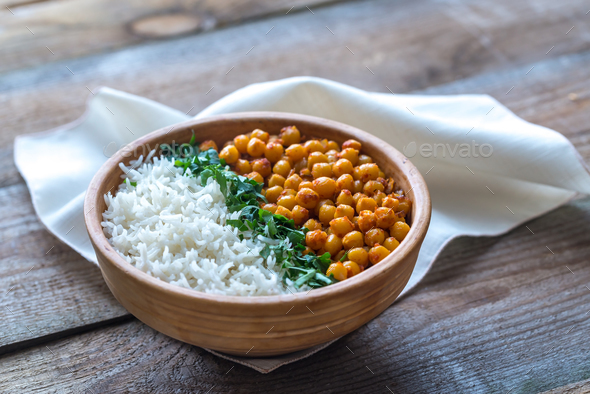 Bowl of chickpea curry - Stock Photo - Images