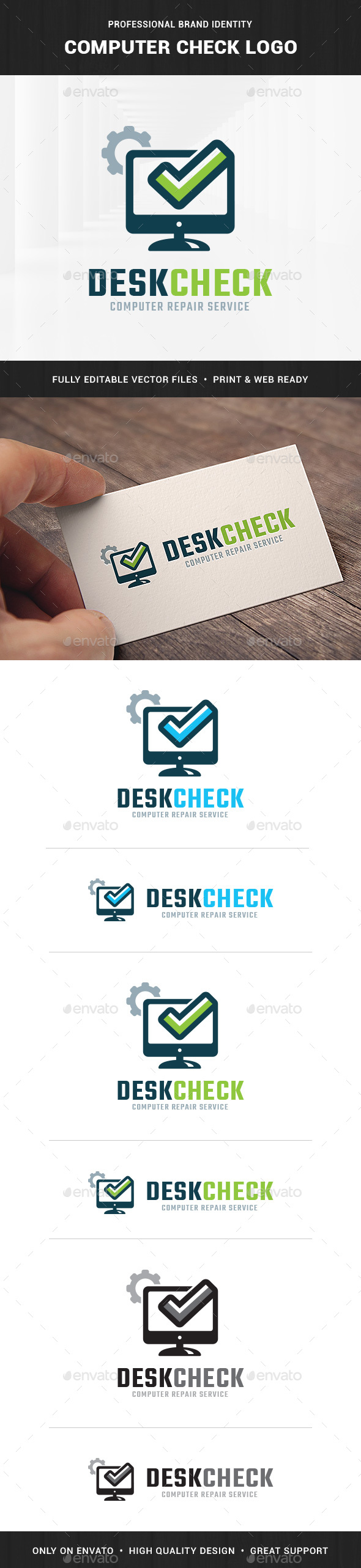 Computer Check Logo Template - Objects Logo Templates