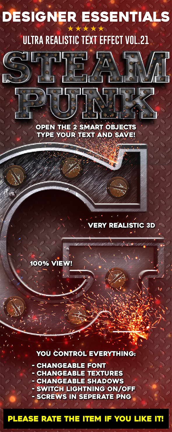 Designer Essentials Ultra Realistic Text Effect Vol.21 - Text Effects Actions