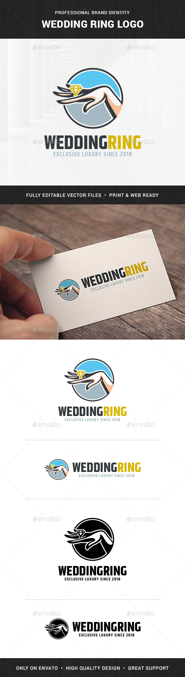 Wedding Ring Logo Template - Objects Logo Templates