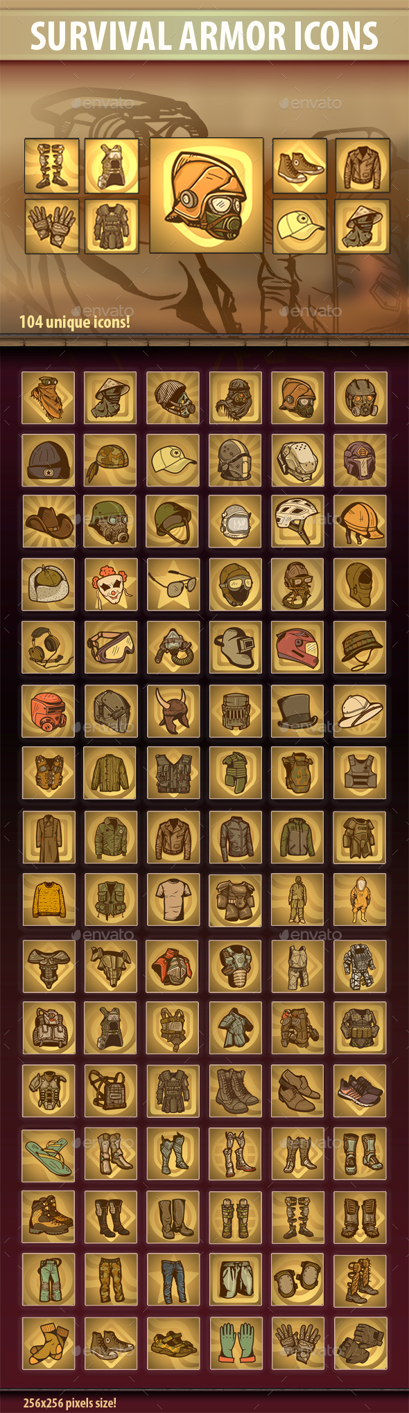 Survival Armor Icons - Miscellaneous Game Assets