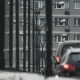 Cars Moving Slowly in a Traffic Jam near Block of Flats - VideoHive Item for Sale
