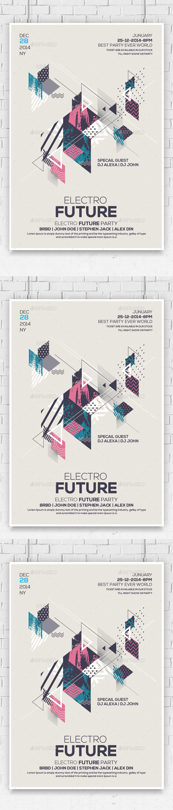 Electro Future Concert Dj Flyer - Flyers Print Templates