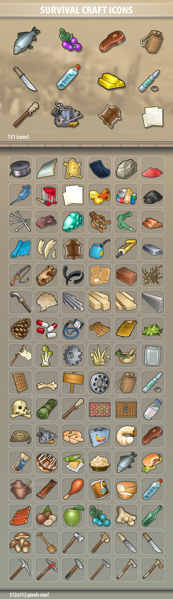 Survival Craft Icons