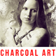 Charcoal Art - Realistic Dust Photoshop Action