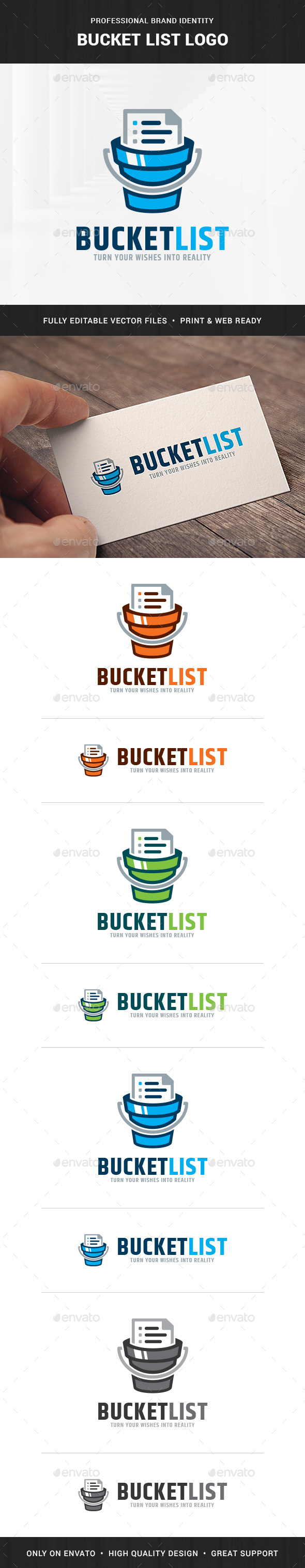 Bucket List Logo Template - Objects Logo Templates