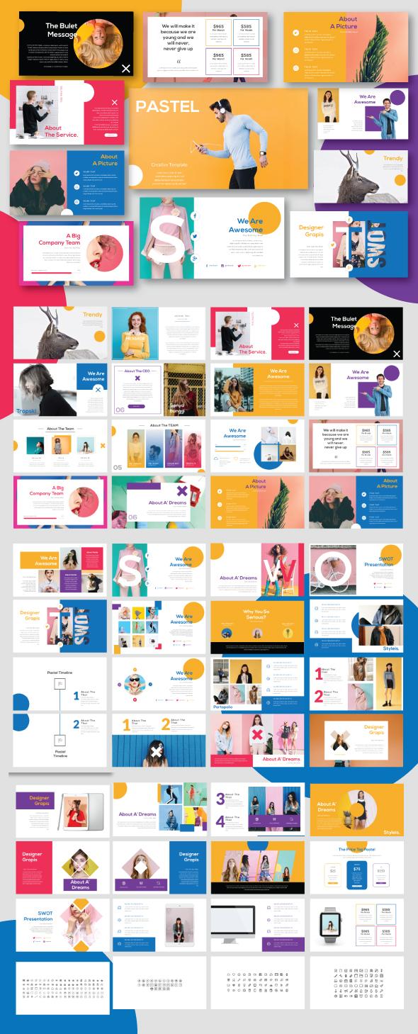 Pastel Modern Minimal Powerpoint - Creative PowerPoint Templates