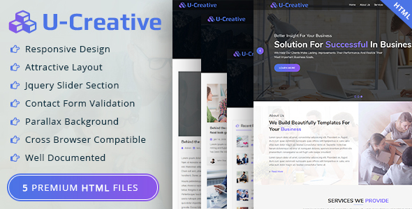 U-Creative Business and Corporate HTML Template - Site Templates