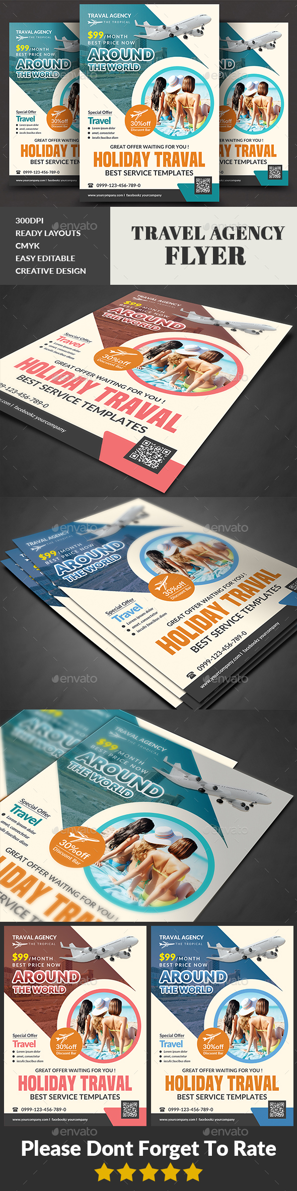 Travel Agency Flyer Templates - Corporate Flyers