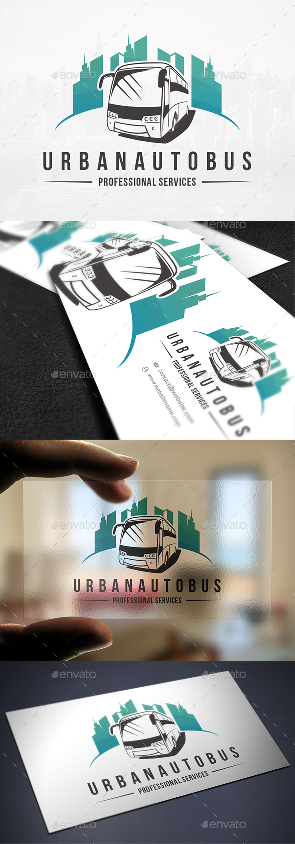 Urban Bus Logo Template - Objects Logo Templates