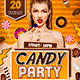 Candy Party Flyer Template - GraphicRiver Item for Sale