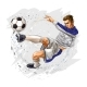 Soccer Player Kicks the Ball - GraphicRiver Item for Sale
