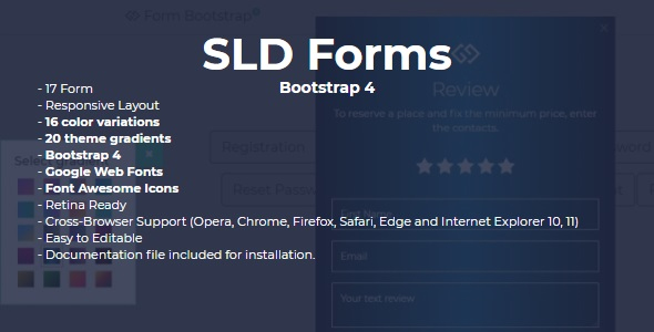 SLD Forms Bootstrap 4 - CodeCanyon Item for Sale