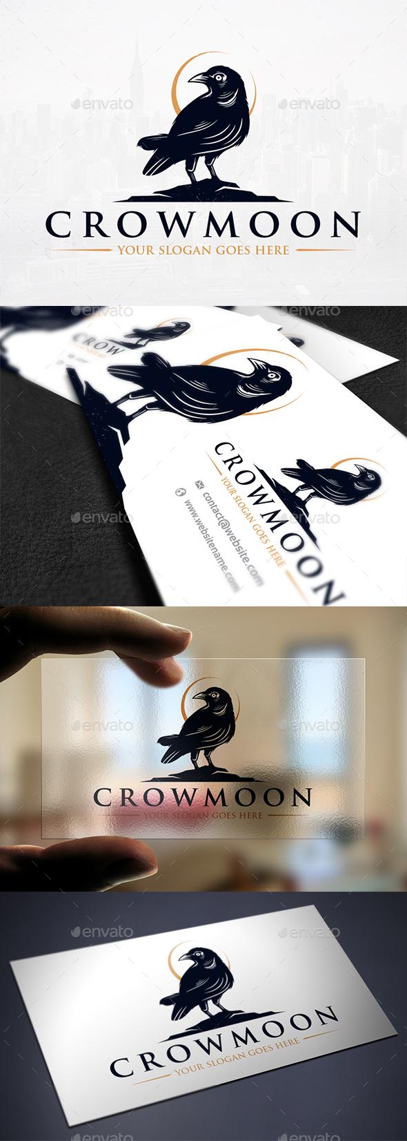 Night Crow Logo Template - Animals Logo Templates