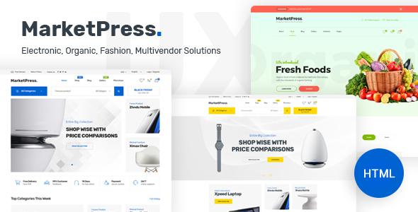 MarketPress - ECommerce & Multivendor HTML Template