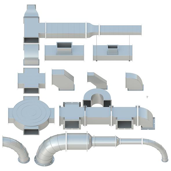 Ceiling Ventilation - 27 3D models - 3DOcean Item for Sale