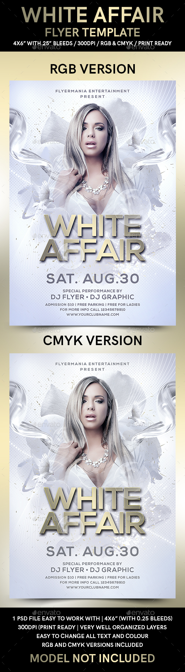 White Affair Flyer Template - Flyers Print Templates